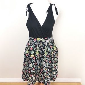 Anthro Maeve Bora Bora Full Skirt Dress Size 10